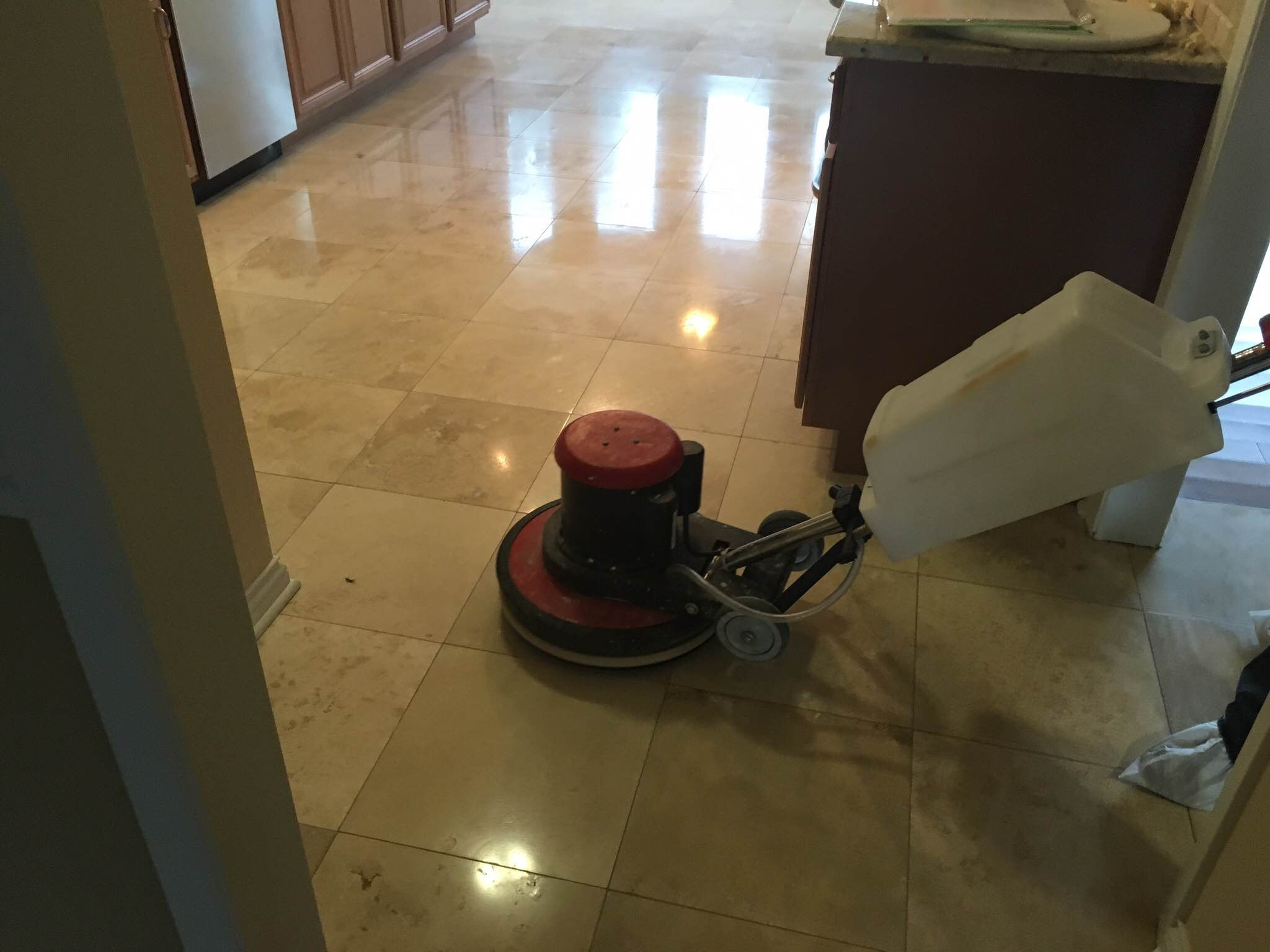 Winnetka Travertine Floor Restoration