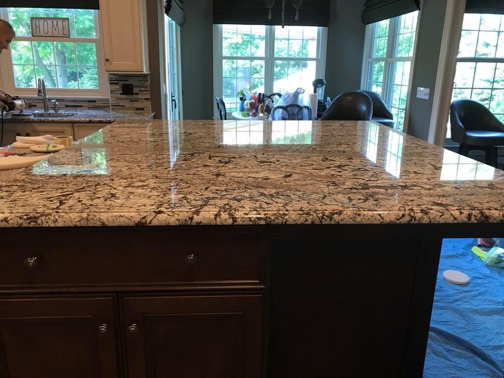 Granite Countertop Polishing in Naperville, Illinois on 7-18-18