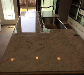 Carrera Marble Countertop Polishing Chicago