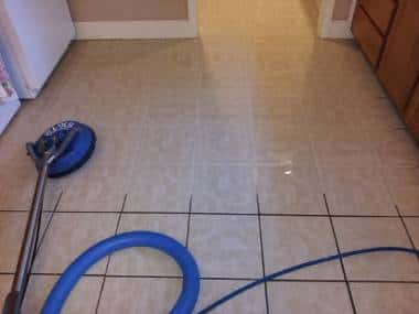 Steam Cleaning Kitchen Floor Tiles